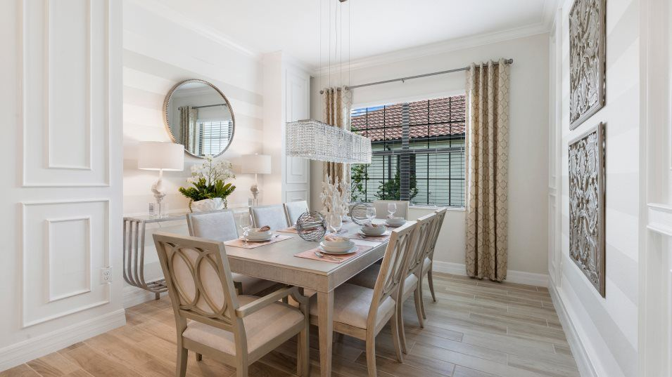 Heritage Landing Manor Homes Stanford Dining Room:The formal dining space is ready for any occasion, whether it's an intimate family dinner or a large