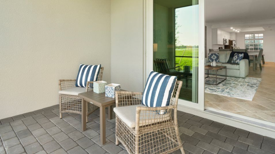 Heritage-Landing Veranda Condominiums Arabella II:Flowing from the open design, the lanai is a peaceful spot for morning coffee that doubles as an ent