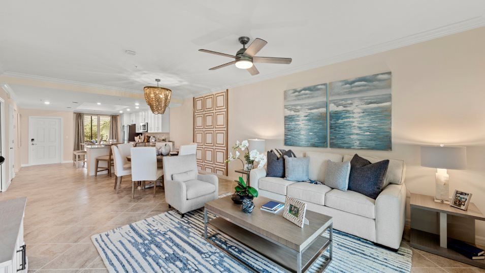 Heritage-Landing Veranda Condominiums Bromelia II:The combined living and dining space is the perfect place to unwind, offering easy transitions from