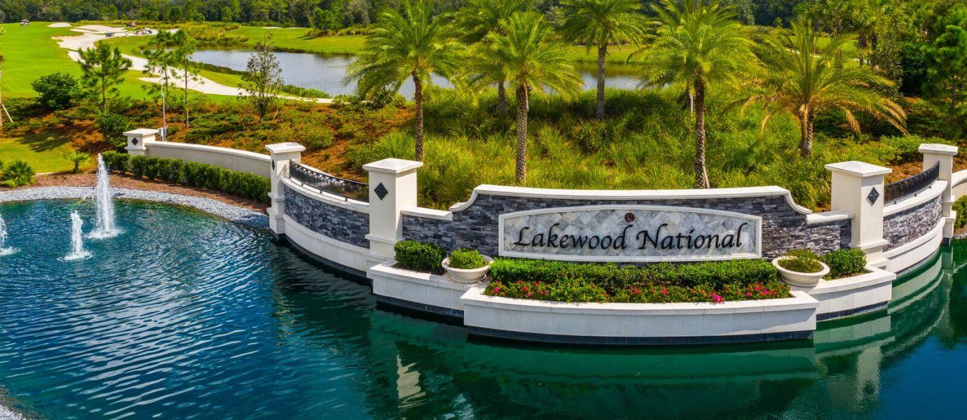 Lakewood National Coach Homes Sign Board