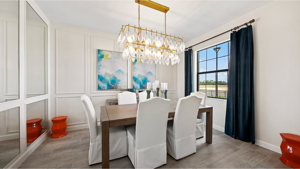 Arborwood Preserve Executive Homes Amalfi Dining:Located near the foyer, this formal dining room welcomes residents and their guests to sit down and