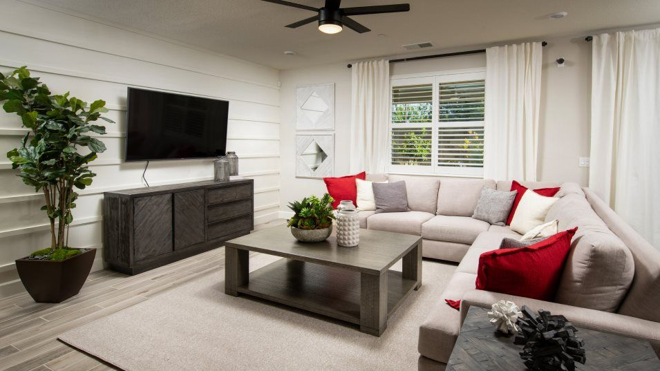 Redwood Collection at Parkside The Trinidad 3141 G:The comfortable Great Room is the perfect place to enjoy quality time with the family, or entertain