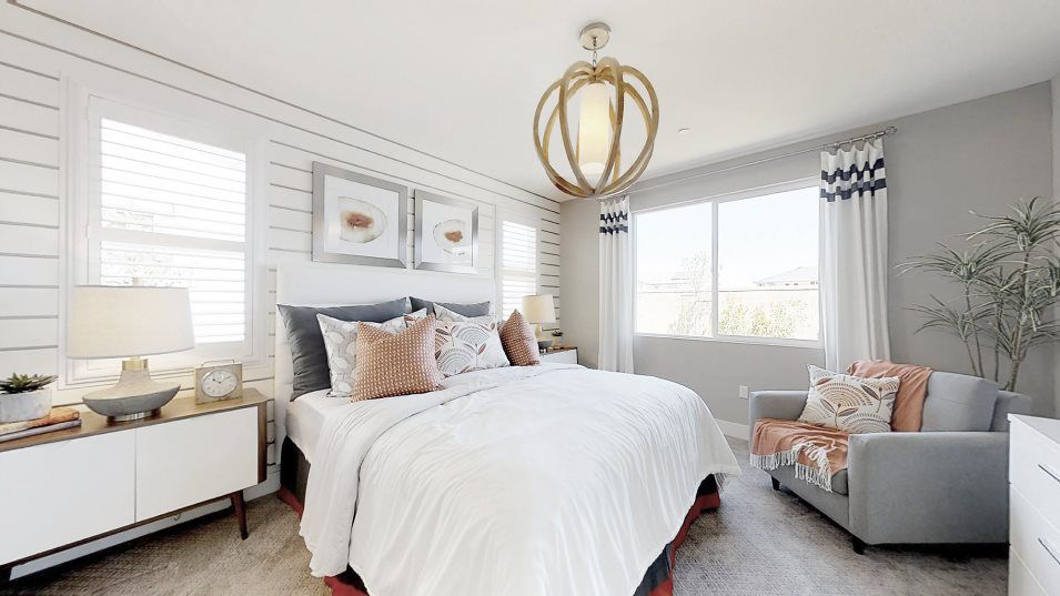 Heritage Solaire Meridian Residence 1784 Owner's S:This cozy owner's suite inspires relaxation with a spacious bathroom featuring a walk-in closet, dua