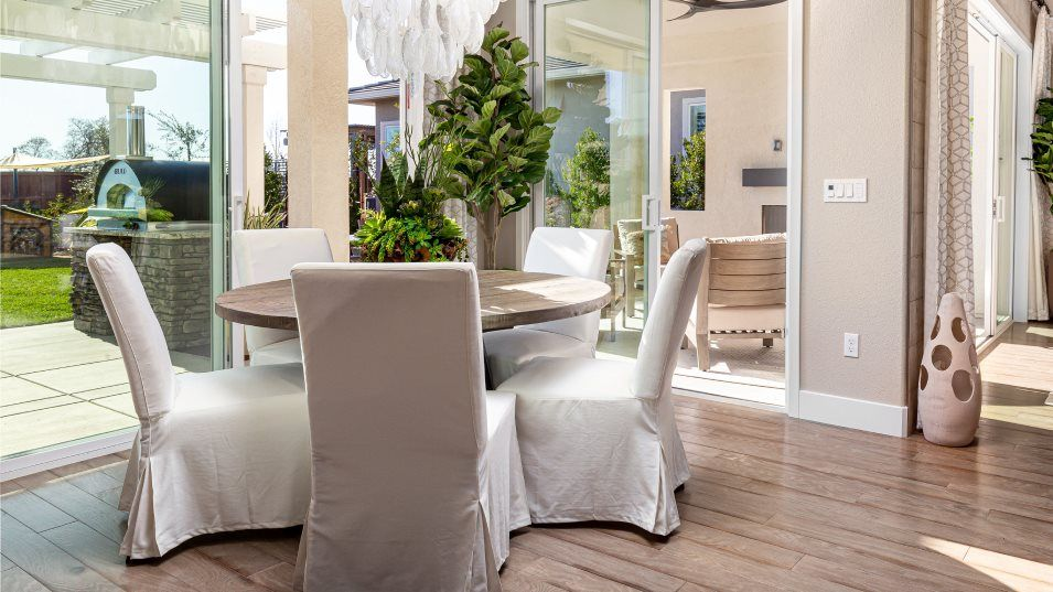 Hawk View at Bass Lake Hill Residence 2531 Dining:The adjacent dining room offers an ideal place for intimate family dinners. Sliding glass doors lead