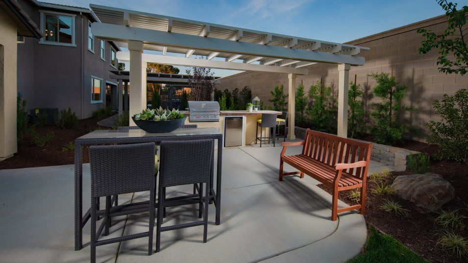 Avila at Fieldstone Residence 3105 Outdoor Space:The charming covered patio includes ample space for outdoor dining and built-in gas stub for a futur