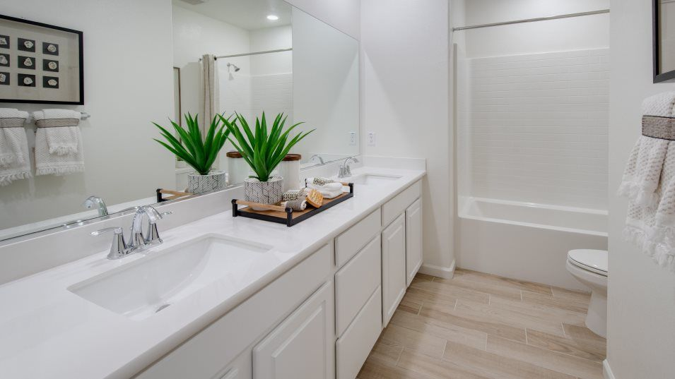 Sonoma Ranch Residence 2062 Bathroom 2:This shared full bathroom includes convenient dual sinks.