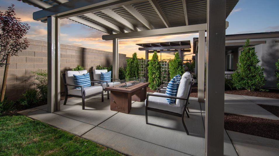 Oceano at Fieldstone Residence 3033 Outdoor Space:The patio is accessed through sliding glass doors, offering a comfortable retreat for entertaining o