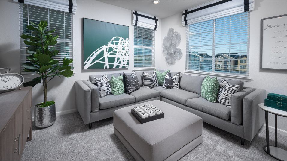 Belle Maison at Campus Oaks Residence 2031 Loft:This versatile space grows with the family, functioning as a media room, playroom, ffice or home gym