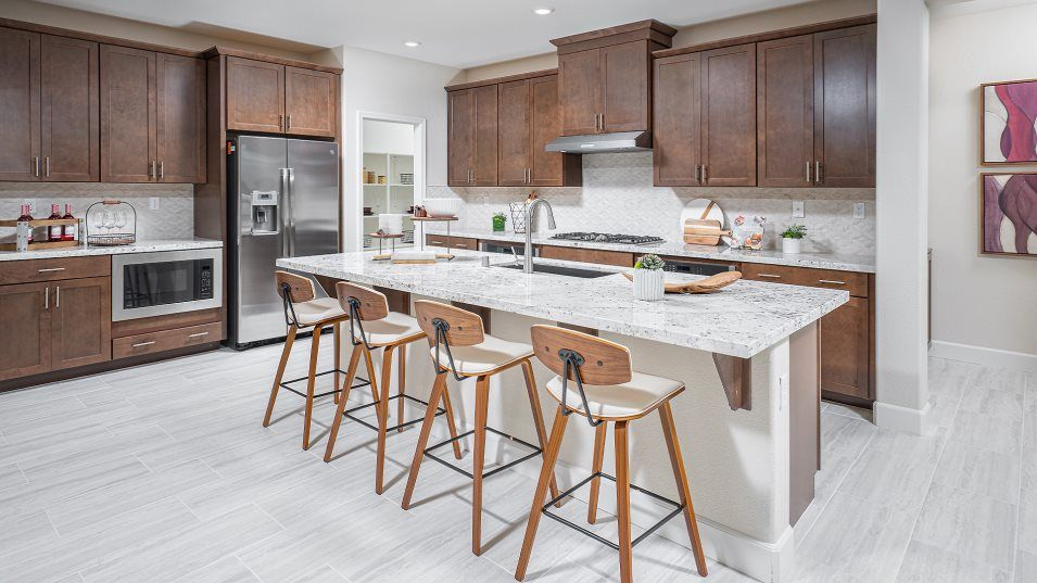 Lumiere at Sierra West Residence 2197 Kitchen:This multifunctional kitchen features ample countertop space, brand-new stainless steel appliances a