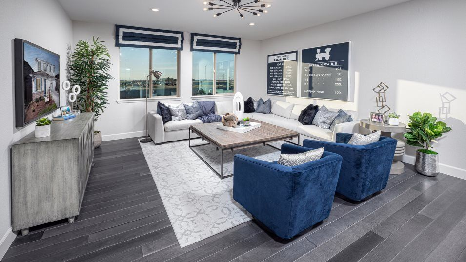 Lumiere at Sierra West Residence 2789 Loft:A spacious second-floor loft provides additional shared living space that can easily operate as a ho