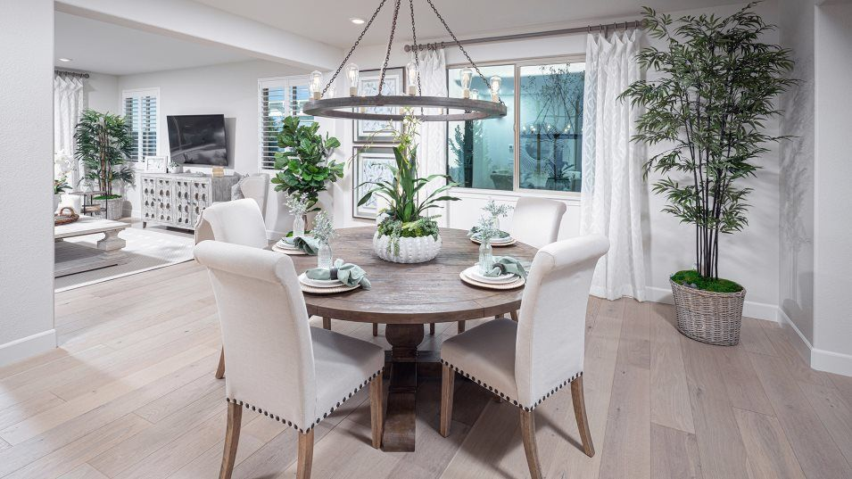 Lumiere at Sierra West Residence 3569 Dining Room:The formal dining room is situated directly off the entry, offering plenty of space for dinners with