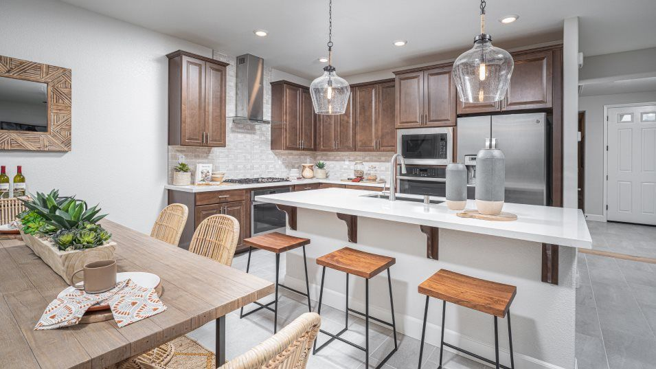 Lapis at Barrett Ranch Residence 1950 Kitchen:This multifunctional kitchen features ample cabinetry, brand-new stainless steel appliances and a sp