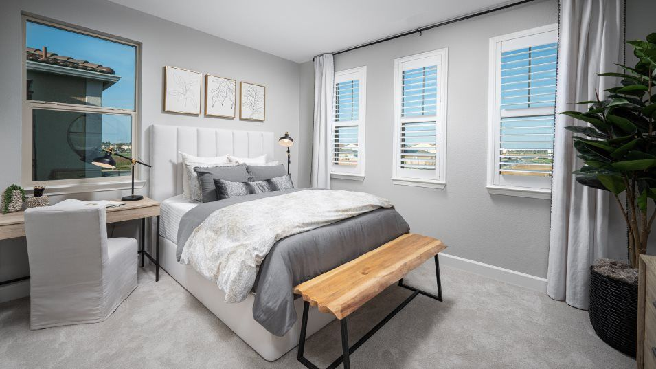Essentia at Sterling Meadows Residence 1945 Bedroo:Three secondary bedrooms are found upstairs, providing plenty of space for younger family members, o
