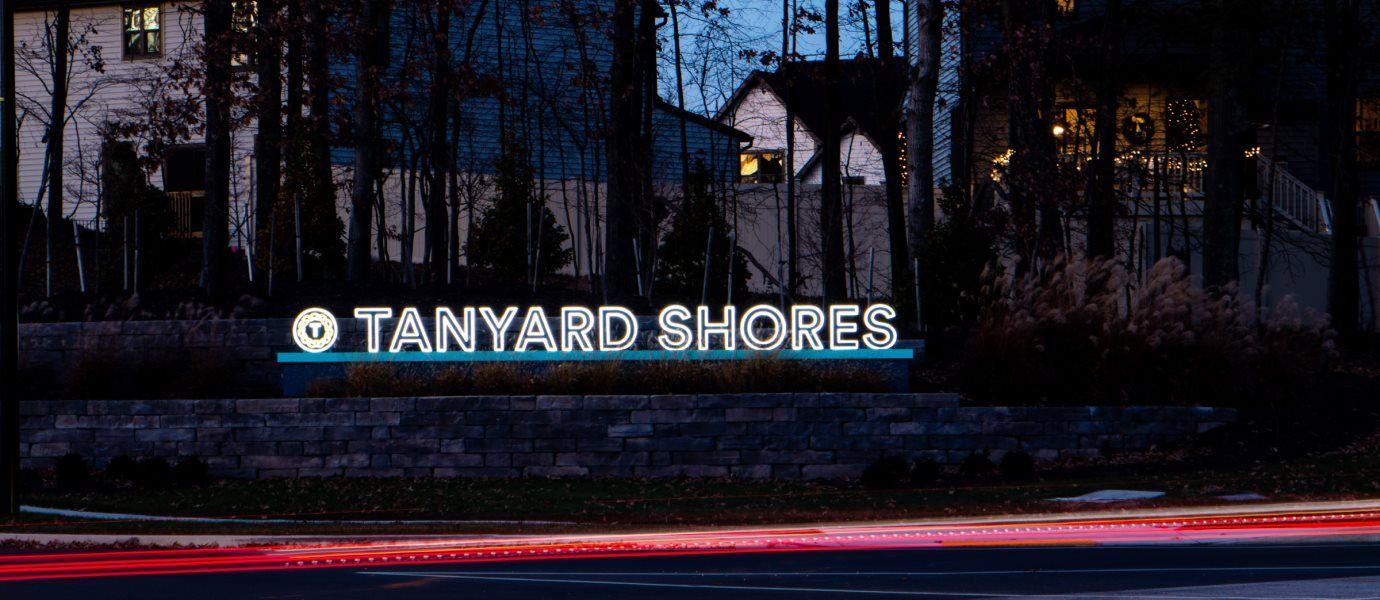 Tanyard Shores Entrance Sign