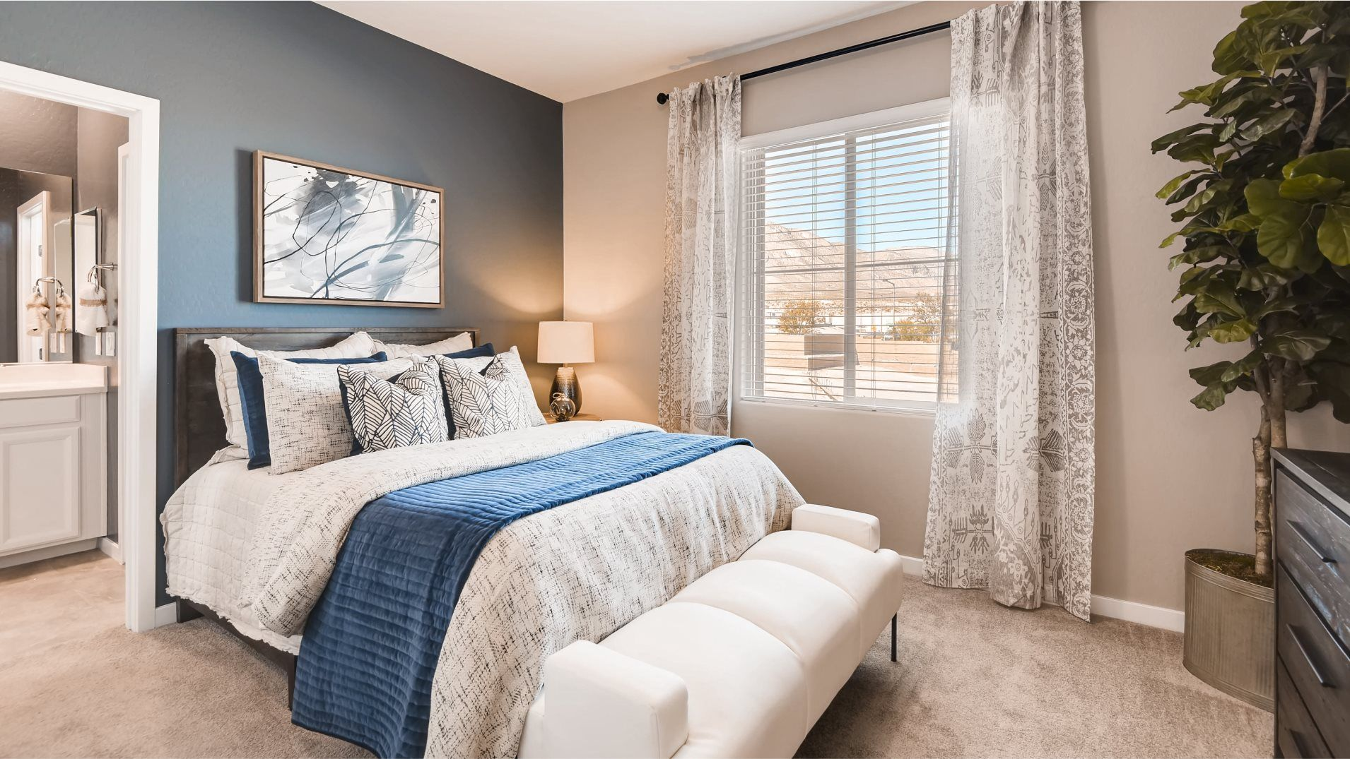 Summerlin Westcott Morgan Owner's Suite Bedroom:Two secondary bedrooms found upstairs offer ample space for younger family members, or even overnigh