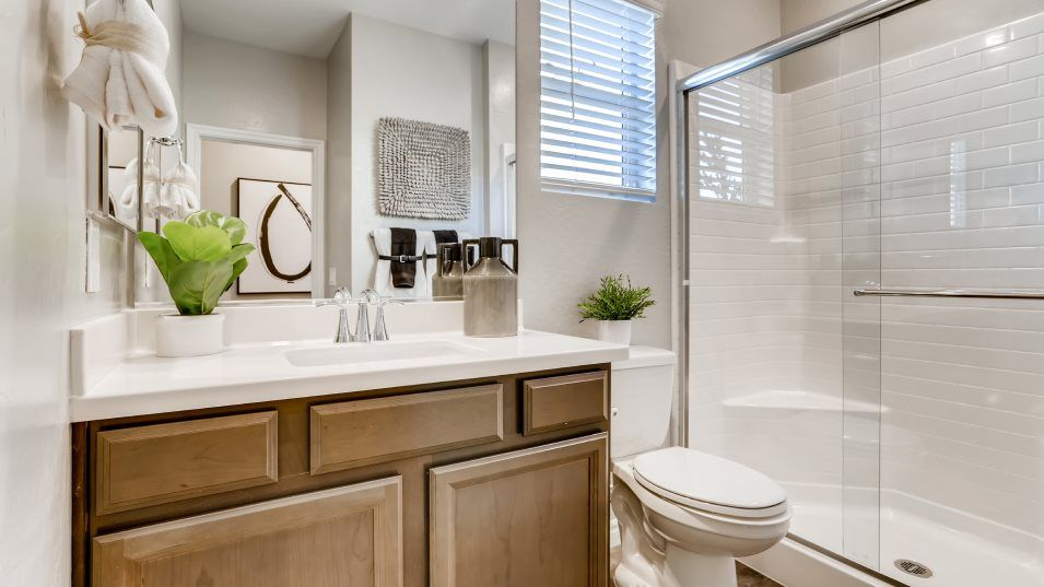 Silverado Valley The Enclave Charlotte Bathroom 2:This full-sized first-floor bathroom is conveniently located with direct access from the secondary b