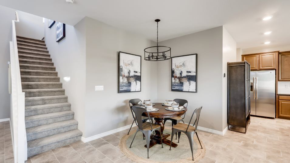 Edgewood Kingsbury Dining Room:Situated among the open floorplan, the dining room effortlessly ows into the kitchen and living room