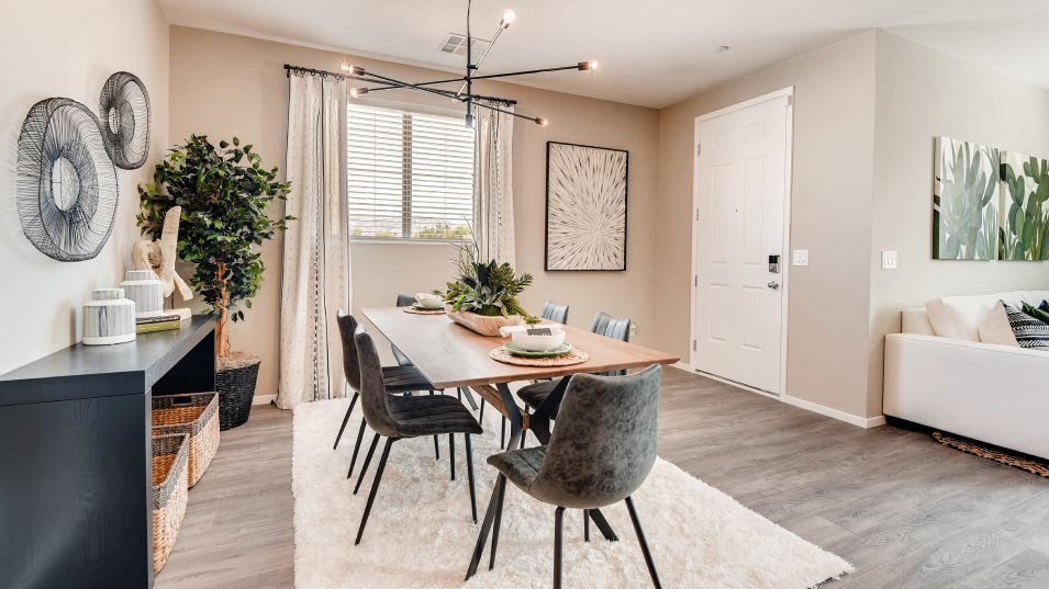Morning Ridge Sunlight Dining Room:Situated among the generous open floorplan, the dining room offers an ideal space for intimate famil