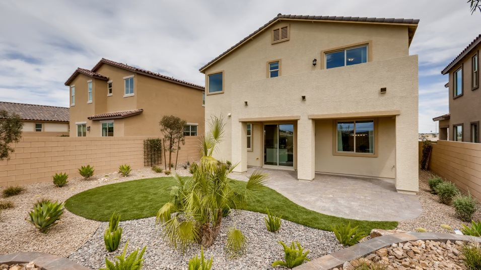 Mira Mesa Elliot Outdoor Space:An enclosed backyard with a gated entry provides outdoor space for barbecues, kids and pets.