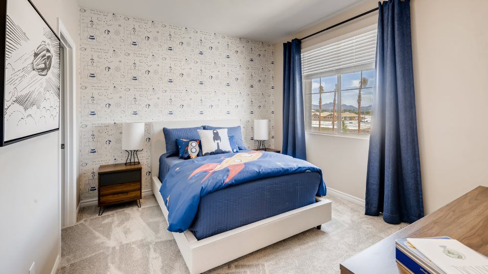 Mesa at Mira Nora Bedroom 3:With four bedrooms in total, this home is great for families.