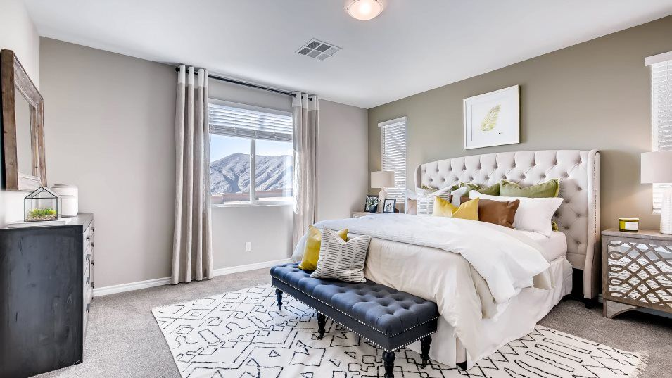 Hidden Hills Ashford Owner's Suite:The second-story owner's suite enjoys a private full-sized bathroom, garden-style soaking tub, separ