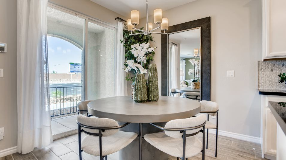 Altair Cardinal Dining Room:With seamless transition into the living room and kitchen, the dining room offers a central gatherin