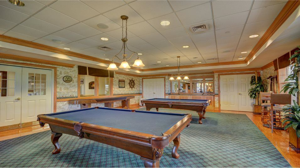 Colonial Heritage posh billiards room