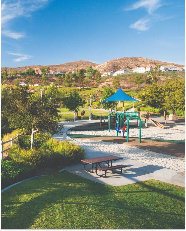 Valencia fun playground at nearby Santa Clarita Park