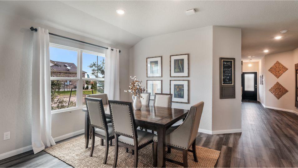 Mission Del Lago Huxley Dining Room:Enjoy a sunlit dining room adjacent to the kitchen