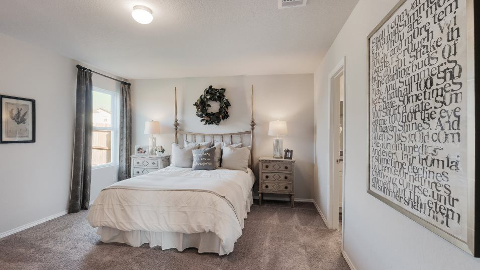 Waterford Park Nettleton Owner's Suite:The owner's suite is in the back of the home for added privacy and has a bedroom with a bathroom and