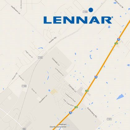 Lennar San Antonio The Crossings map