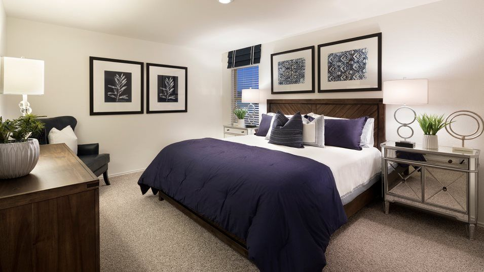 Waterwheel Cottage Collection Ridley Owner's Suite:The owner's suite is tucked into a private corner of the second floor with a full bathroom and walk-