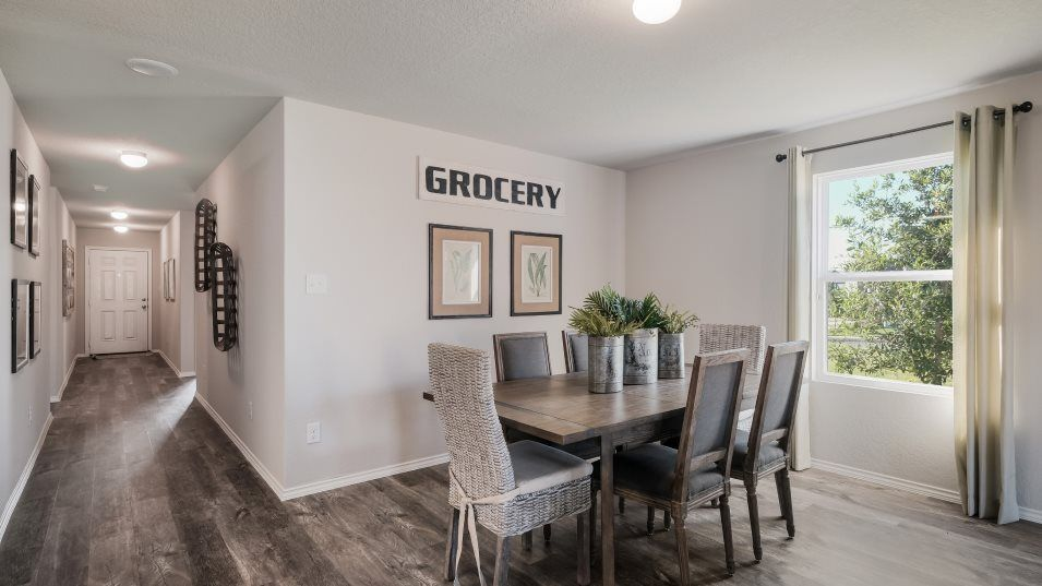 Vista Point Nettleton Dining:The living area features an open space by the kitchen that works well as a dining room