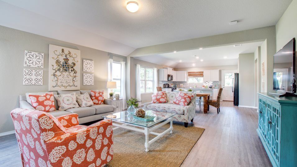 The-Ridge-at-Salado-Creek Barrington & Watermill C:The family room is the main entertainment space in the home, ideal for post-meal relaxing, hosting m