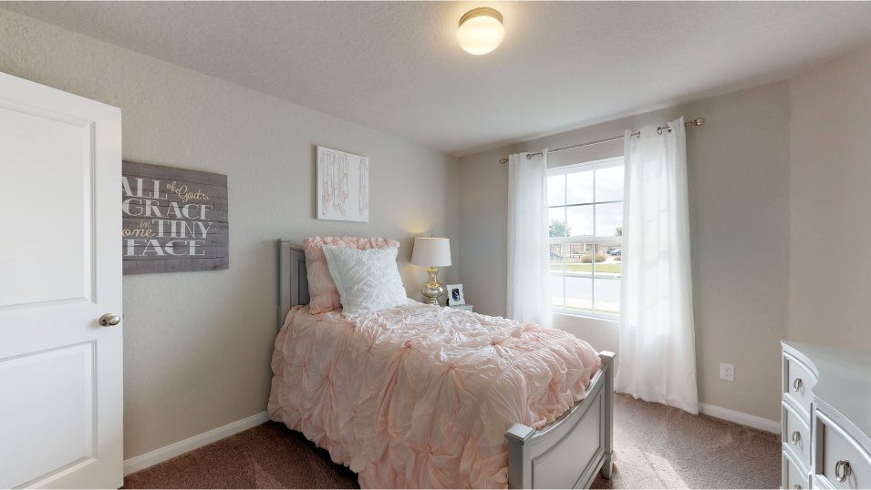 Cordova Crossing Huxley Bedroom 4:Designed with families in mind, this home features four bedrooms in total