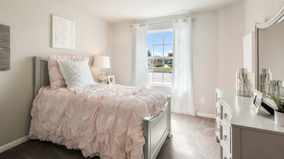 Sage-Meadows Barrington Collection Bradwell Bedroo:Any of the secondary bedrooms can be transformed into a home office, hobby room or guest suite