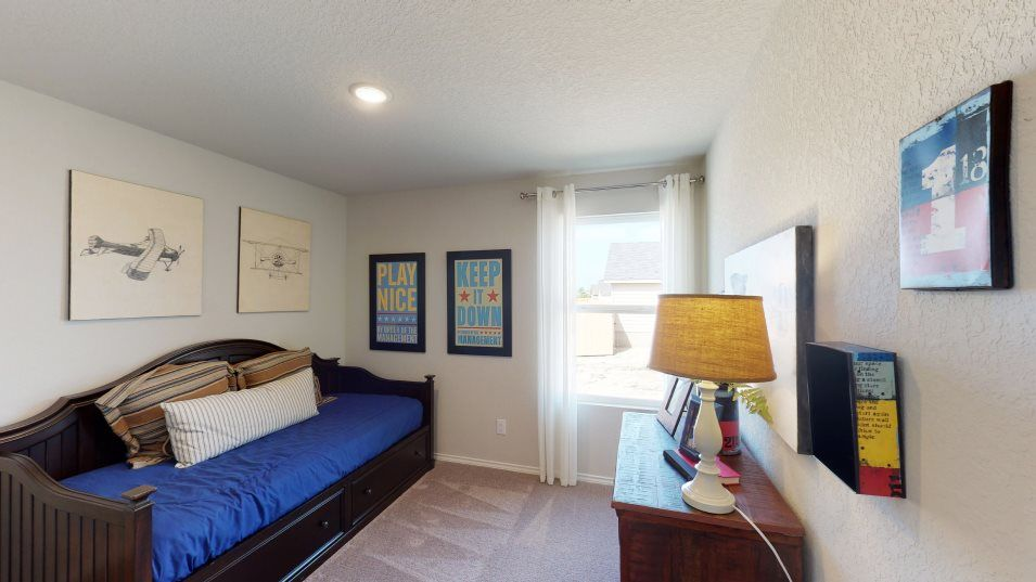 Southton-Meadows Cottage Collection Rundle Bedroom:Perfect for small families, the home includes three bedrooms.