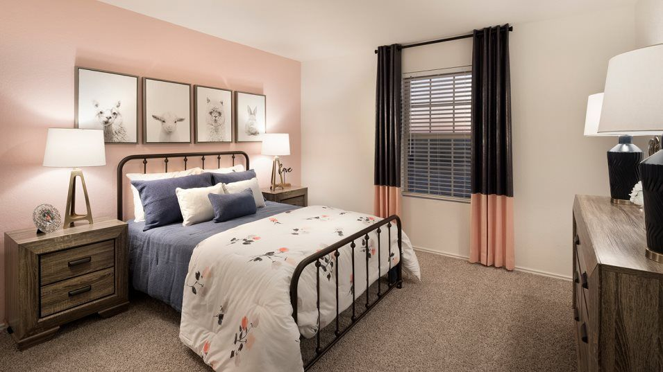 Braun Landing Ridley Bedroom 3:Any of the secondary bedrooms can be converted into a guest suite or home office.