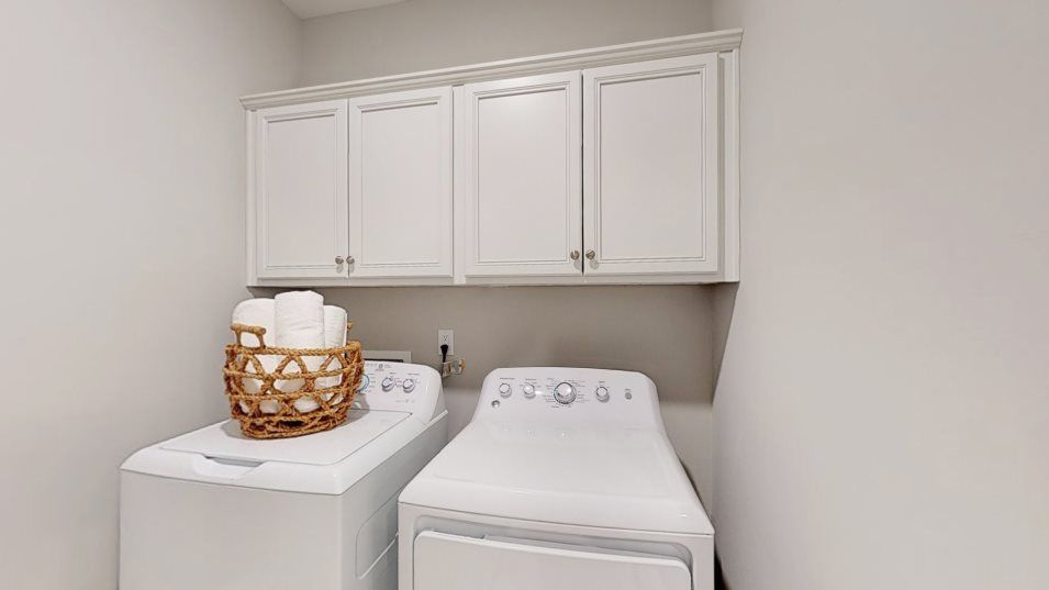 Meadowbrook Summit Collection Clayton III Laundry:The laundry room helps keep the home organized by providing a location to get chores finished and ke