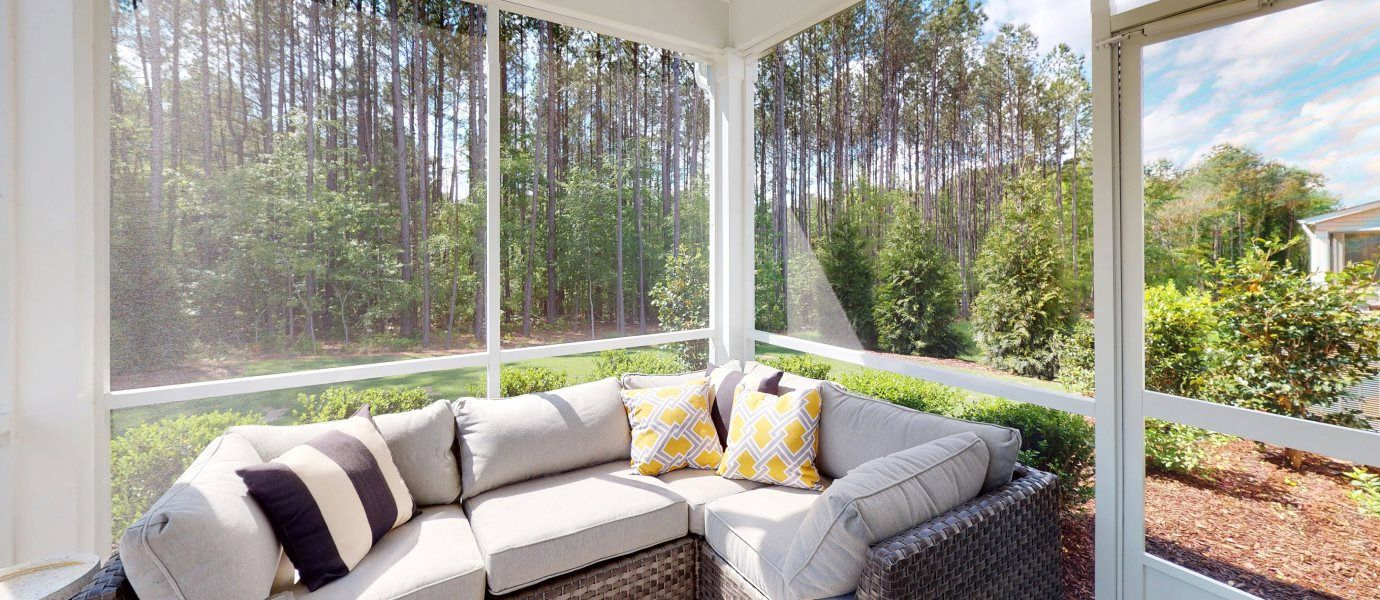 Enclosed patio view from Hanover Collection