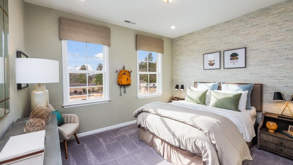 Interior:A second level location offers solace and quiet to the bedrooms.