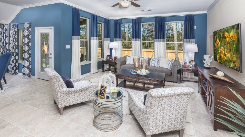 Bridgeland Brookstone Collection Radford II Family:A natural gathering spot in the home, this family space offers plenty of room for entertaining or re