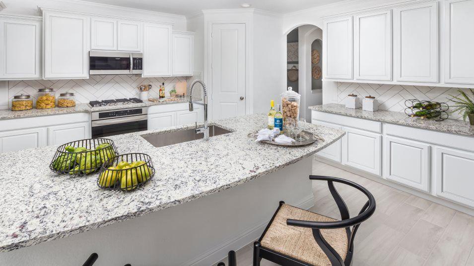 Tavola Vista Collection Juniper Ridge Kitchen:The modern kitchen features brand new stainless-steel appliances, designer cabinetry with under cabi