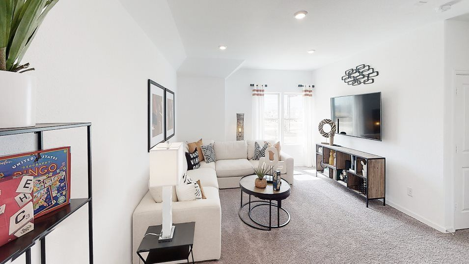 Newport Magnolia Collection Bennett Bonus Room:A large bonus room is centrally located on the second floor, adding shared living space with flexibi