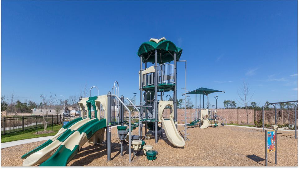 Balmoral Playground with slides and a swing set