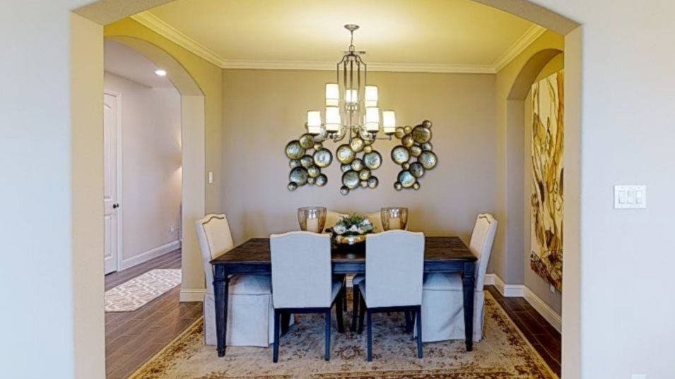 Jordan Ranch Vista Collection Acadia Dining Room:The formal dining room provides an excellent space for upscale dinner parties and casual brunches al