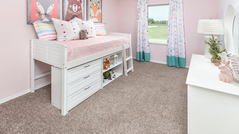 Winward nuHome Collection San Marcos Bedroom 2:The flexible nature of the secondary bedrooms can easily accommodate the evolving needs of growing f