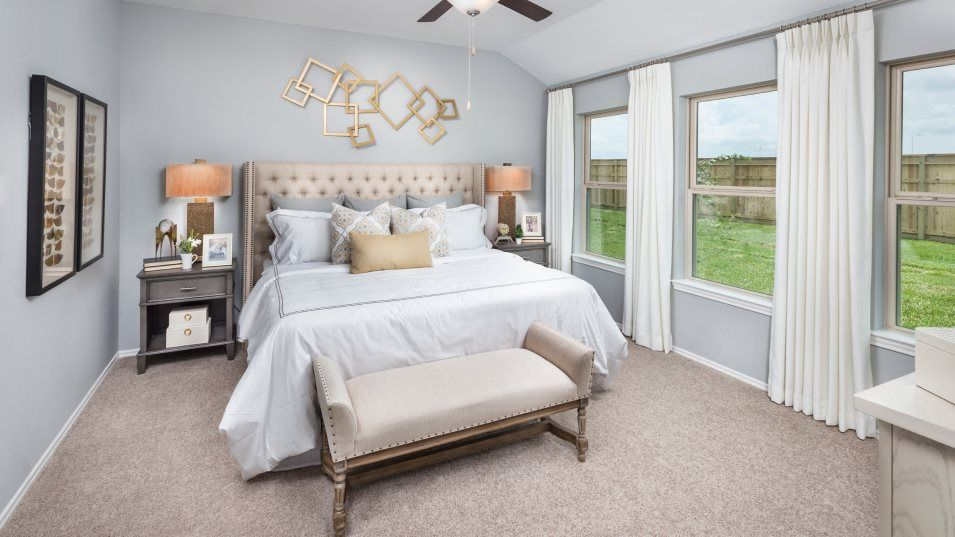 Heritage-Reserve Wildflower Collection Clover Owne:This owner's suite is tucked away for privacy and features an en-suite bathroom and spacious walk-in
