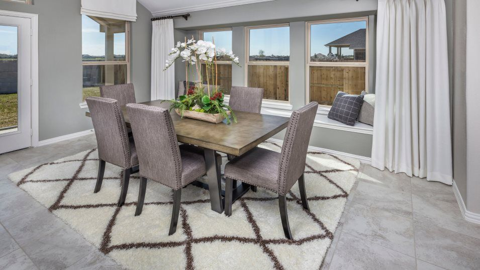 Walnut-Creek Brookstone Collection Russo II Dining:Plenty of windows fill this charming dining room with natural light, an ideal atmosphere to host any