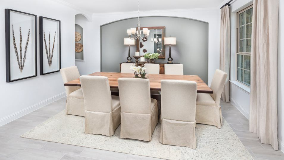 Young Ranch Vista Collection Juniper Ridge Dining:A formal dining room offers a thoughtful space that's well-suited for special and casual occasions a